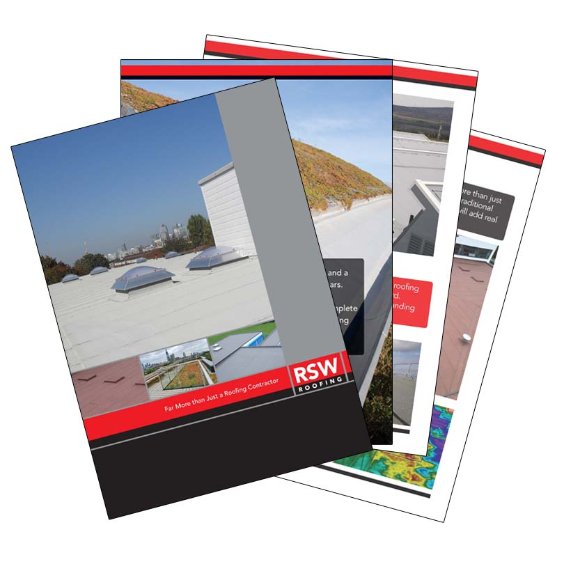 RSW roofing sales brochure